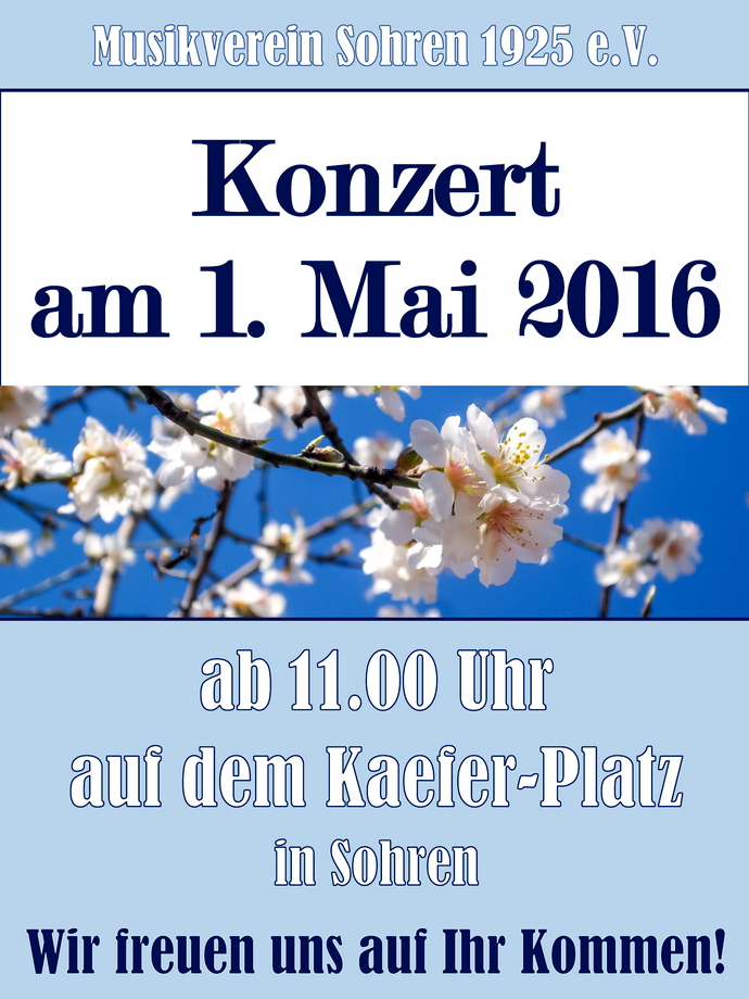 Konzert am 1.Mai in Sohren